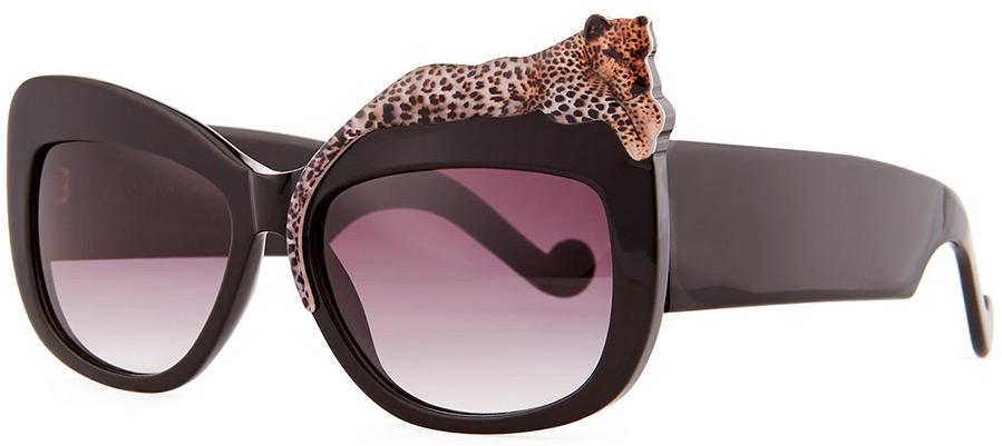 Солнцезащитные очки с леопардом