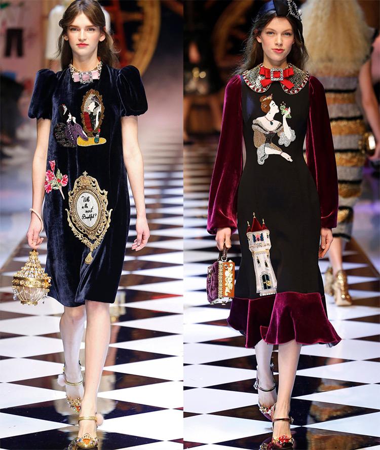 Бархатные платья Dolce & Gabbana