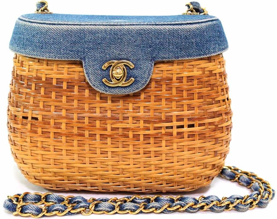 Соломенная сумка Chanel