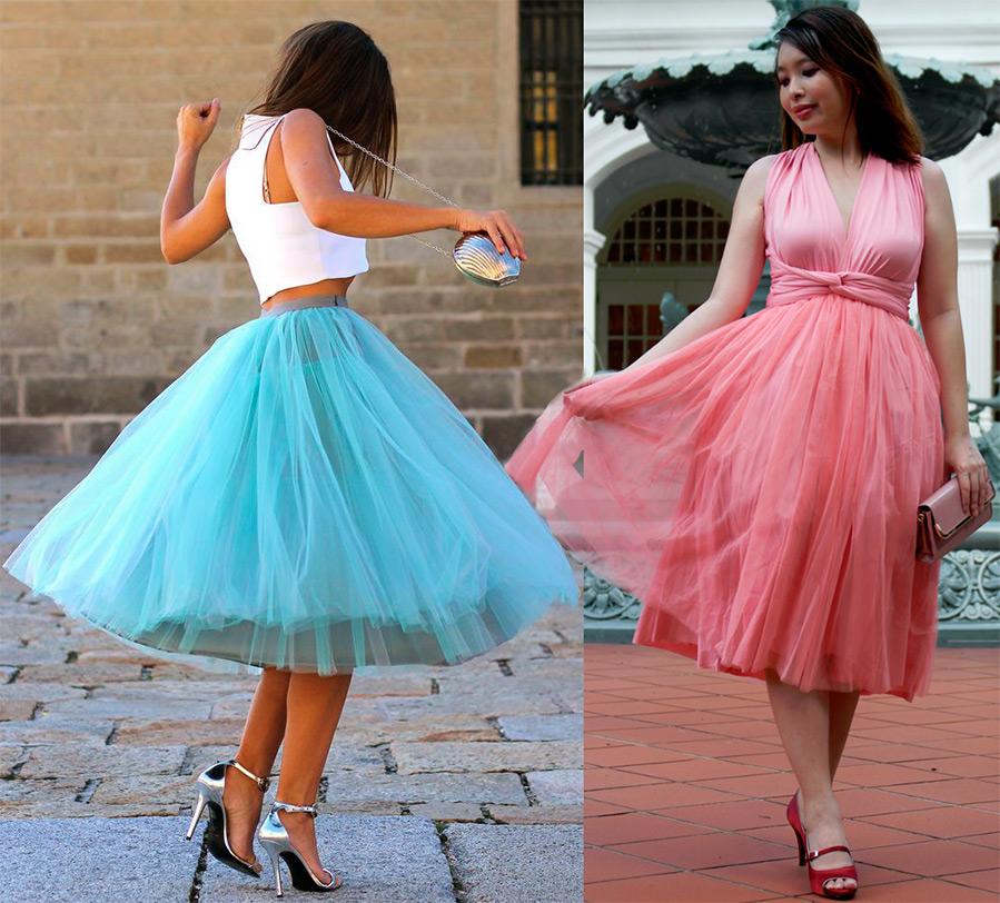 Платья с фатина на выпускной