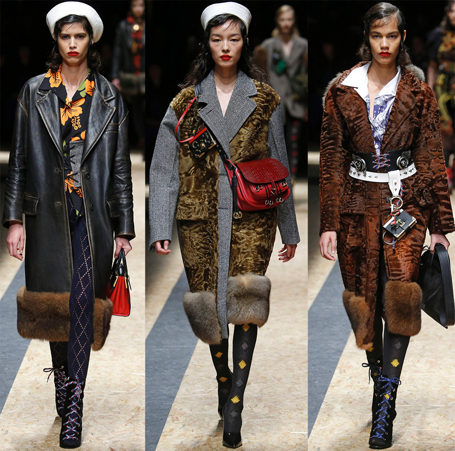Модное пальто Prada
