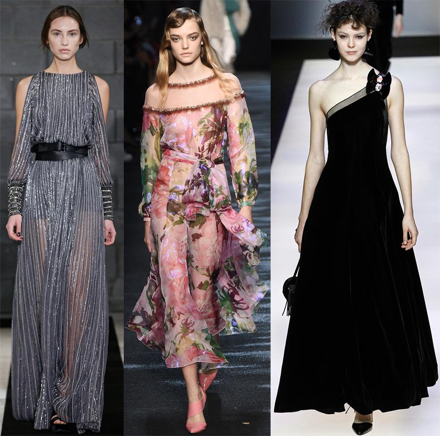 Модные фасоны платьев осени