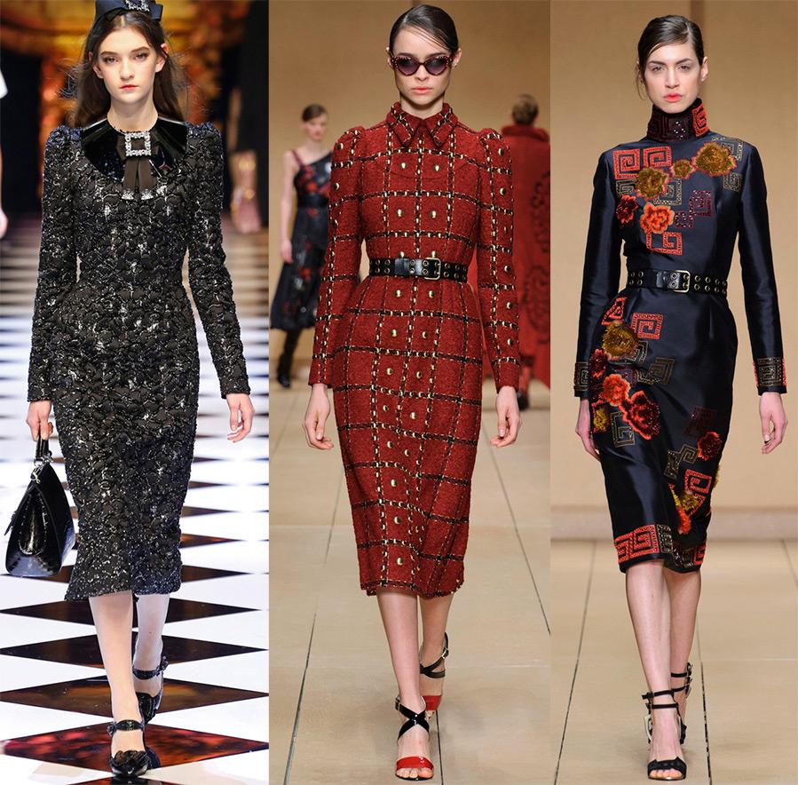 Декор платья модный