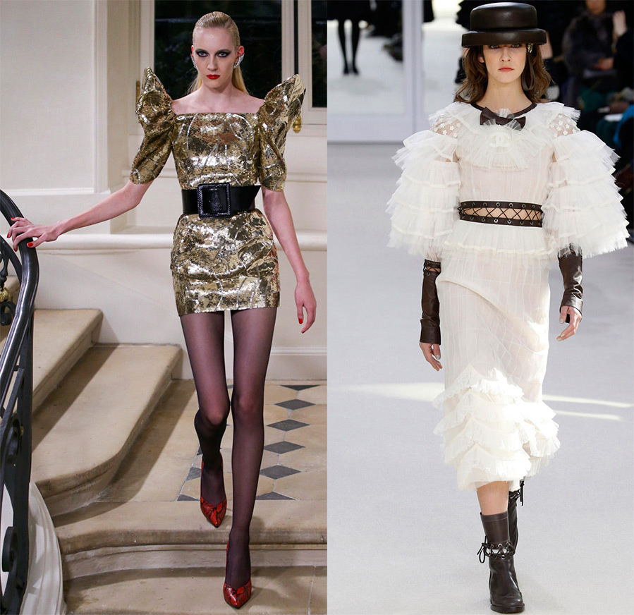 Платья Saint Laurent и Chanel
