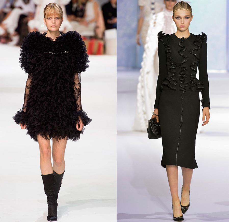 Черное платье осень-зима 2016-2017