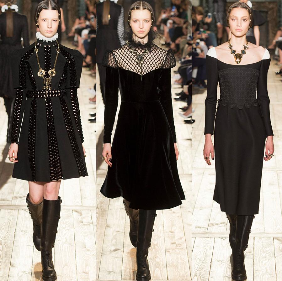 Черные платья Valentino
