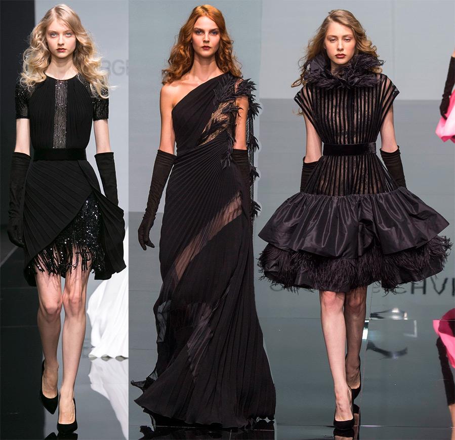 Коротко о черном платье 2016-2017