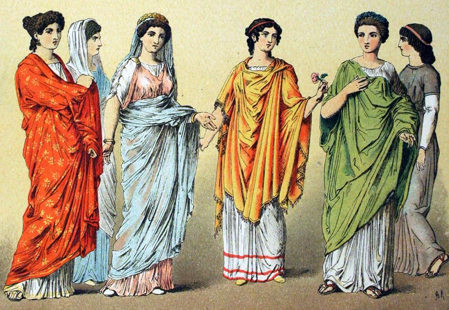 Платья древнего рима