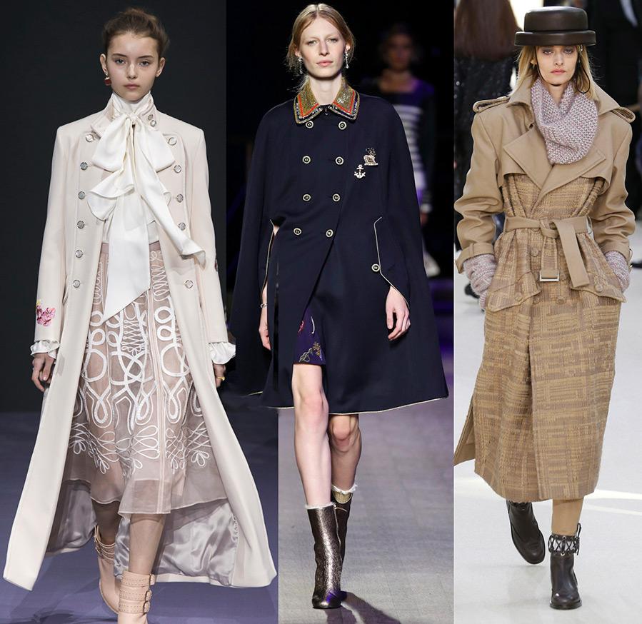 Женское пальто в стиле милитари 2016-2017