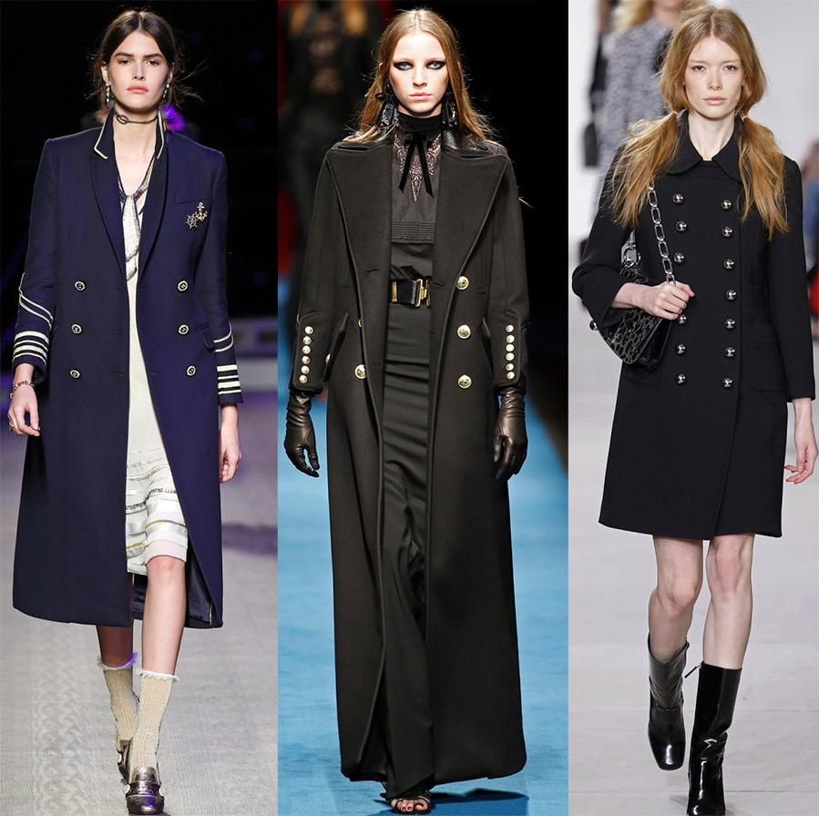 Модное пальто милитари