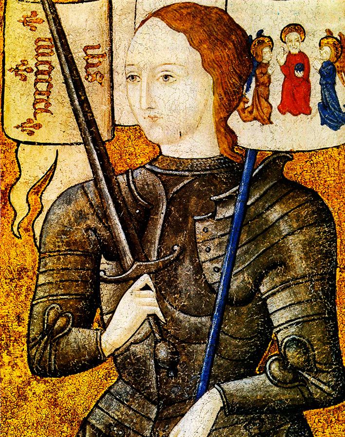 Прическа по моде Средних веков