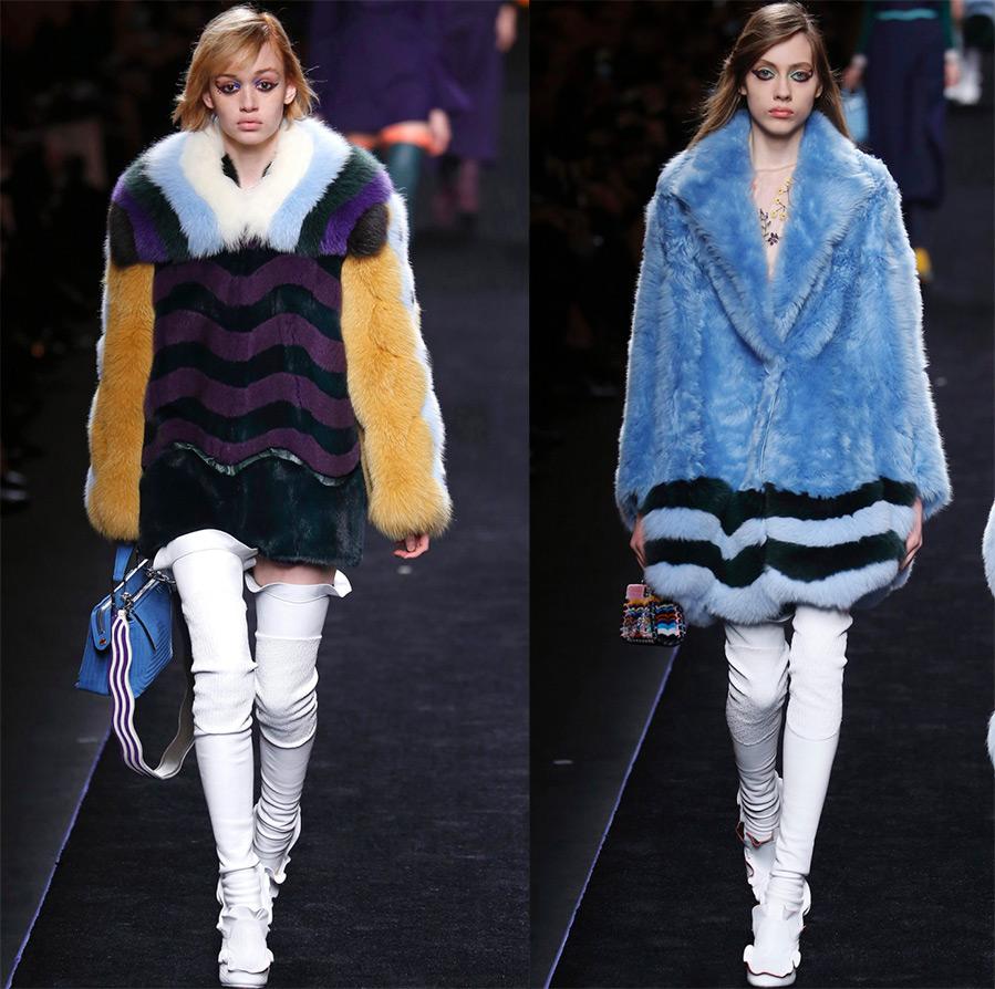 Модные шубы Fendi 2016-2017