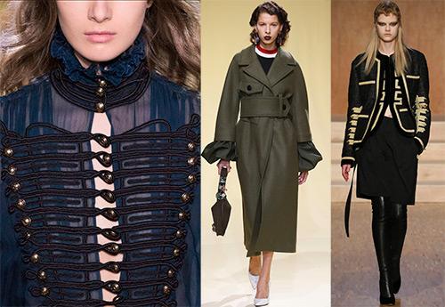 Красота женской одежды в стиле милитари 2016-2017
