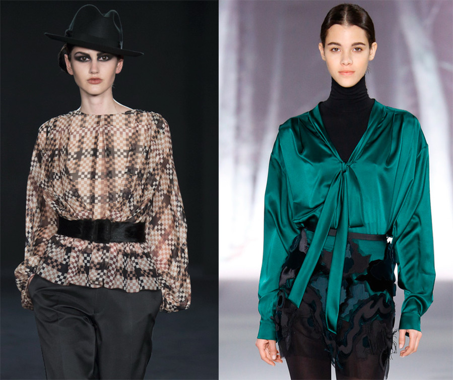 Блузки модные тенденции 2016-2017 года