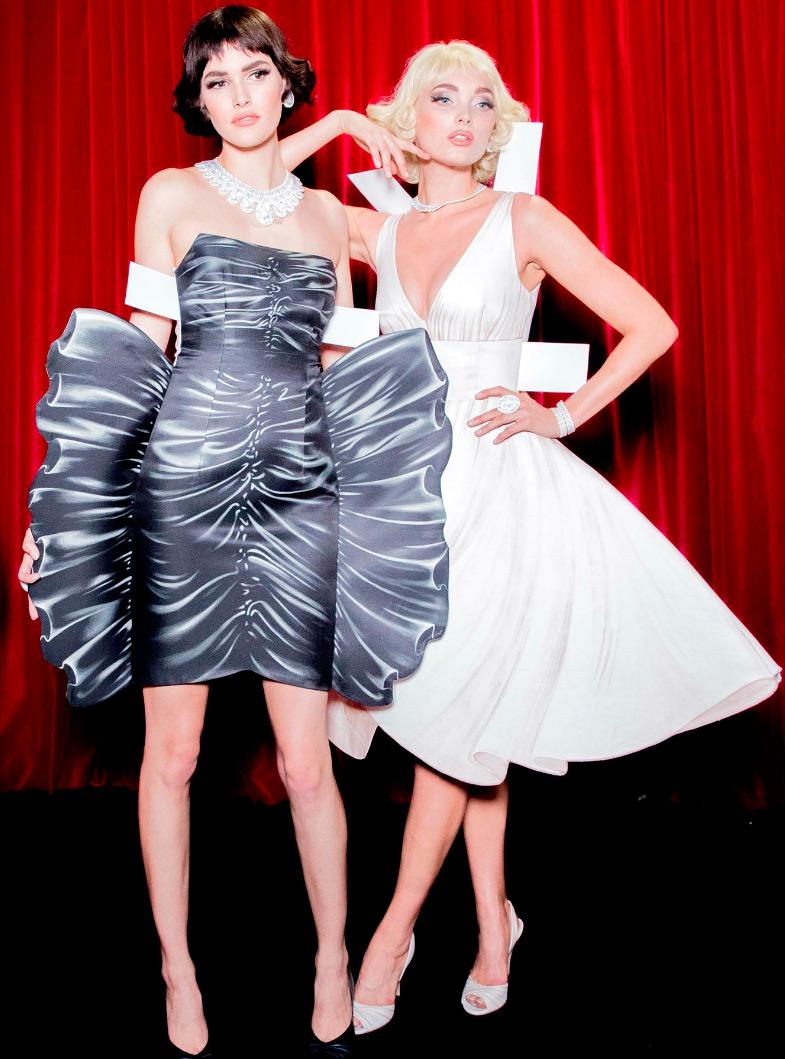 Moschino 2017 женская одежда в стиле бумажных кукол