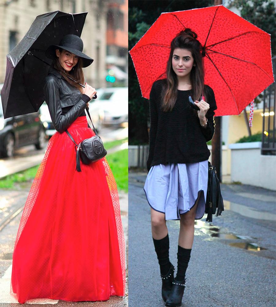 Осенние образы с зонтами