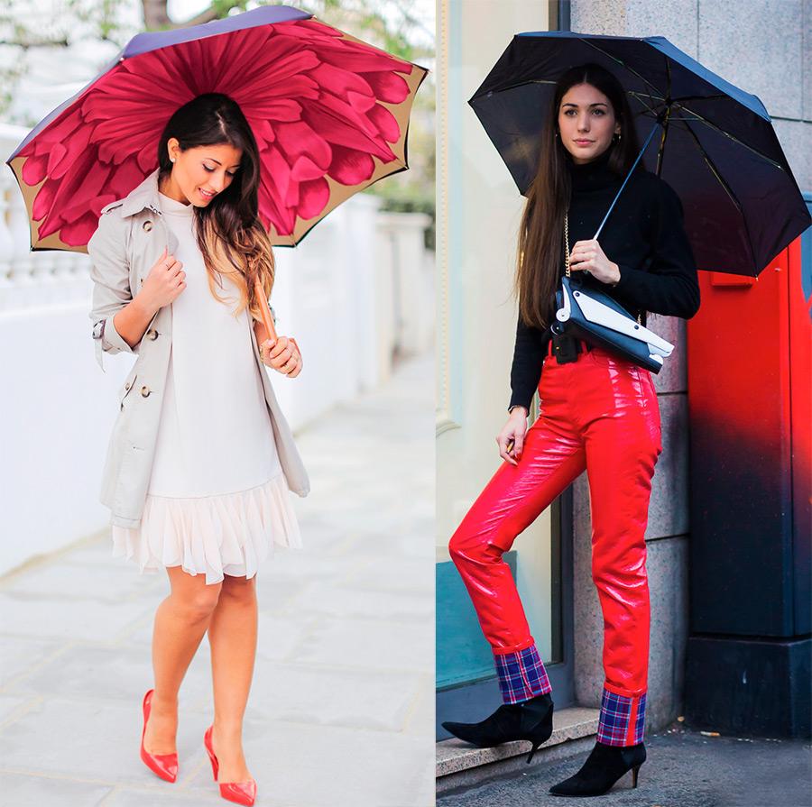 Модные и красивые зонты