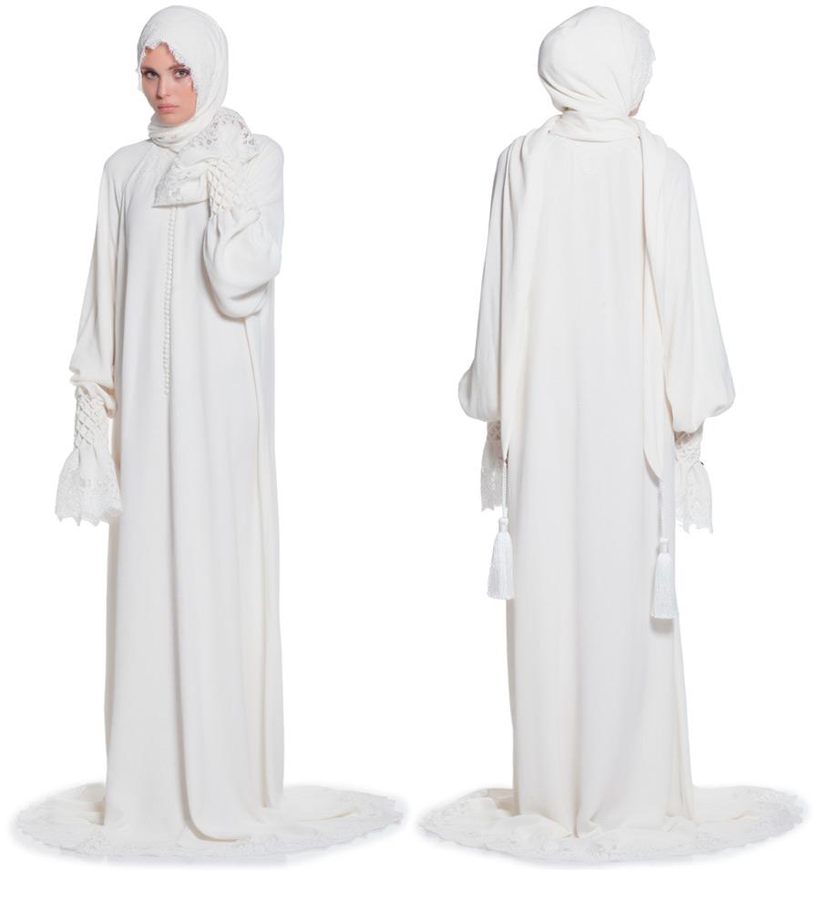 белое молитвенное платье