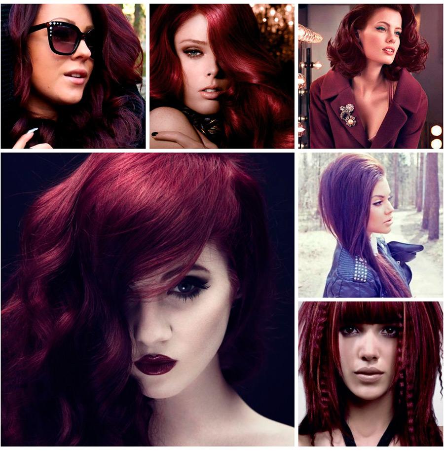 Цвет волос бургундский фото