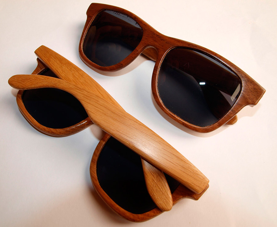 Солнцезащитные очки в деревянной оправе