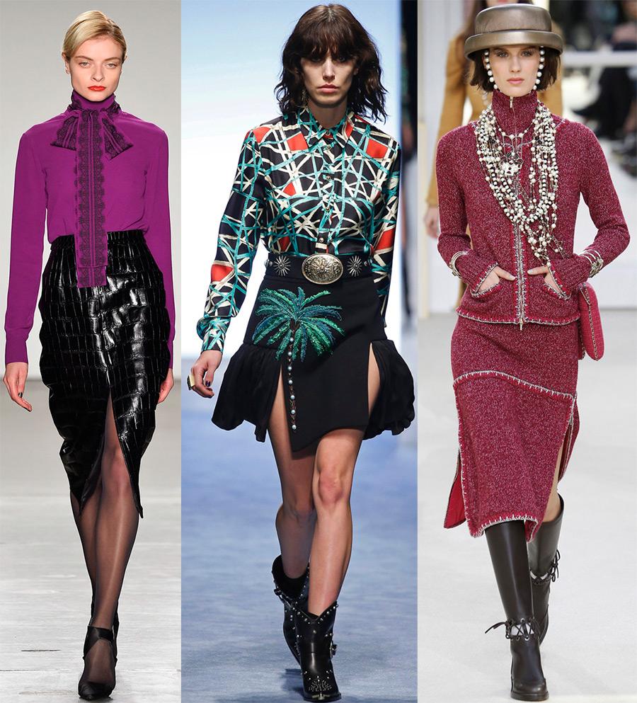 Модные разрезы на юбках