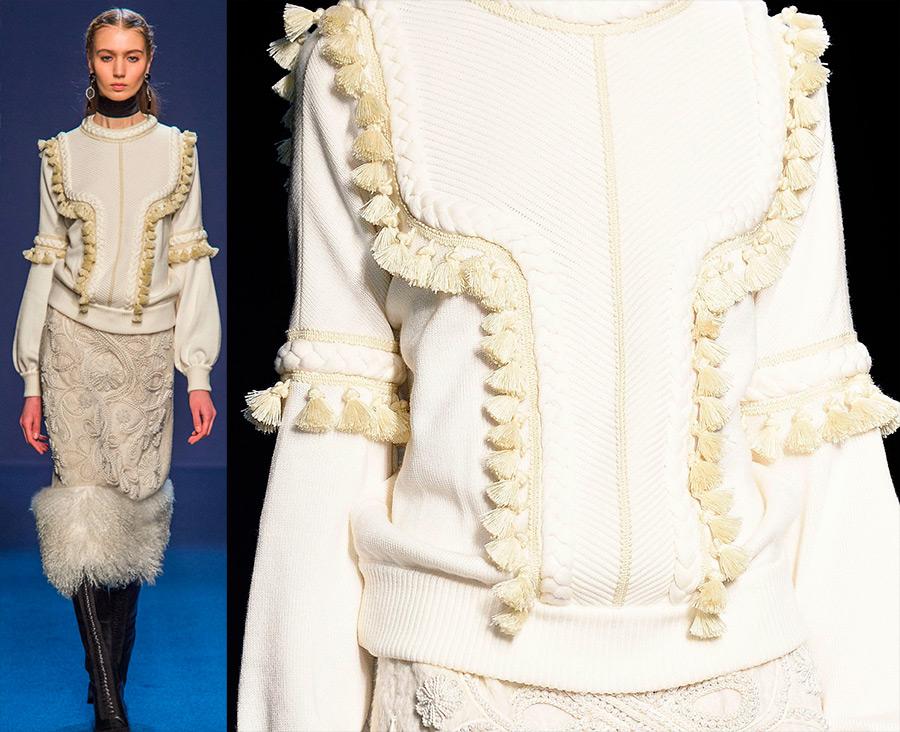 Кисточки в декоре модной одежды и истории