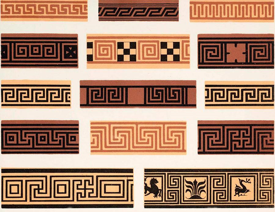 Греческий орнамент меандр в истории и моде