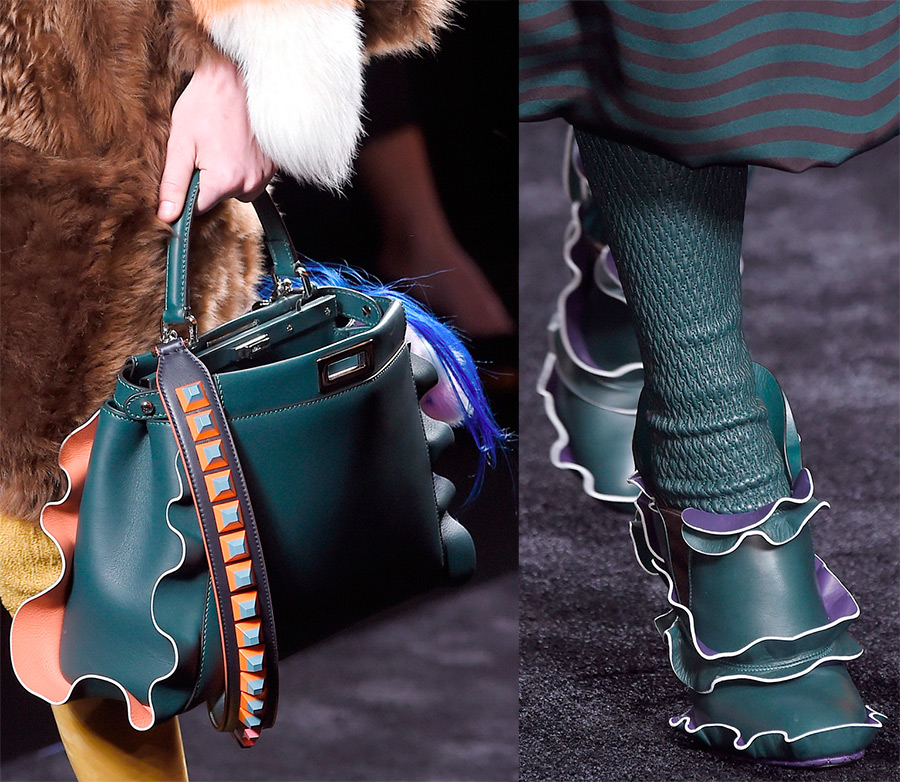 Обувь с оборками