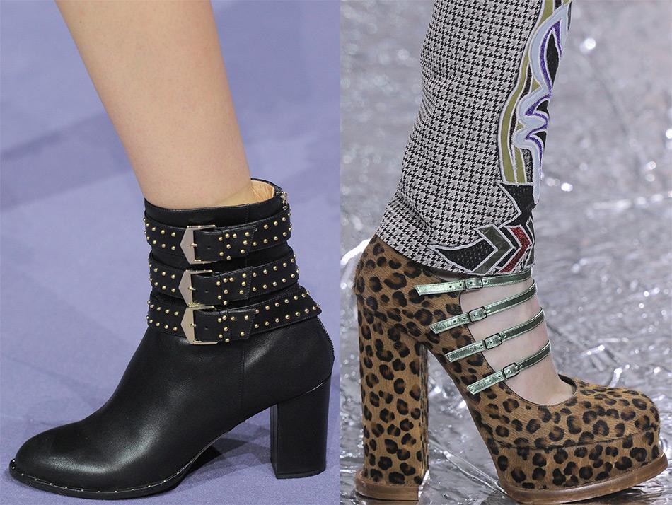 модная женская обувь с пряжками