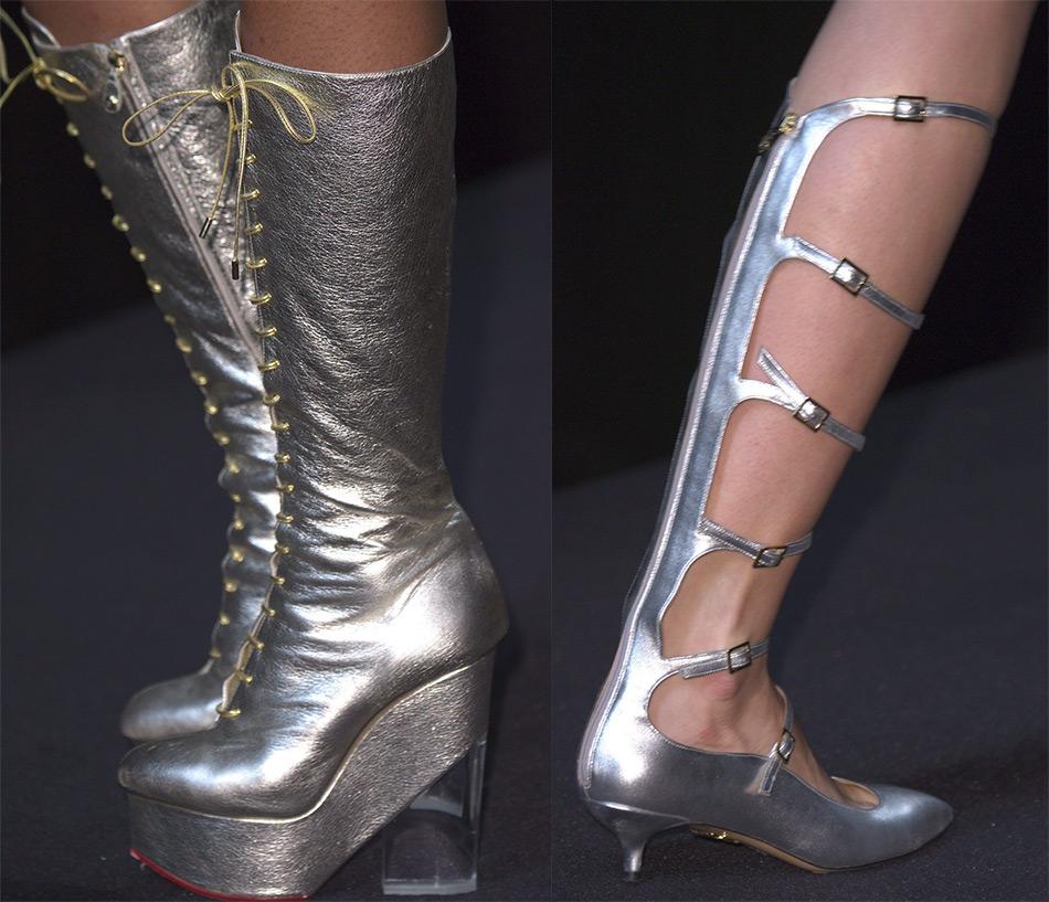 Блестящая металлизированная обувь 2016-2017