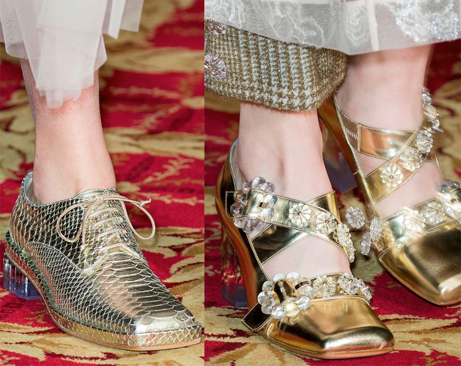 Блестящие туфли в мужском стиле