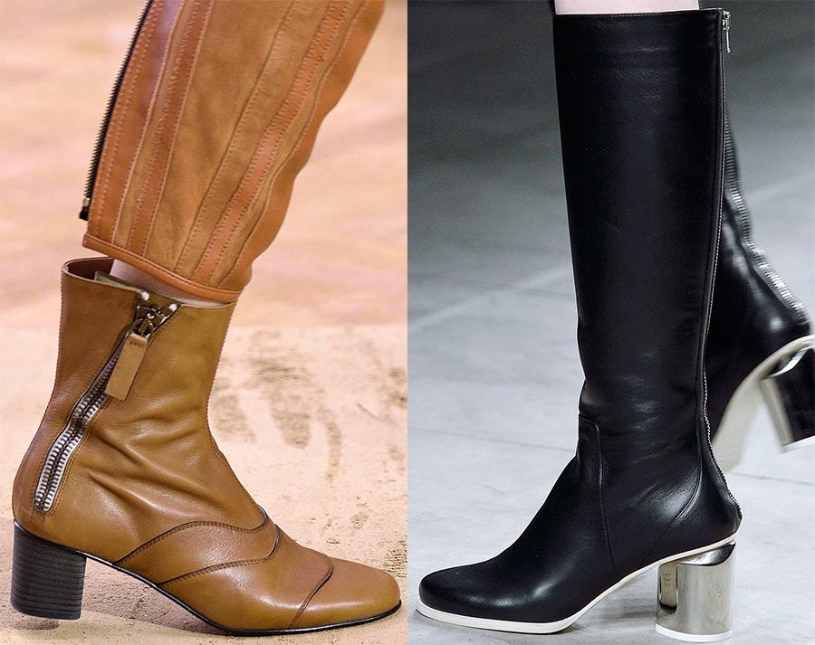 Модные женские сапоги 2019-2017