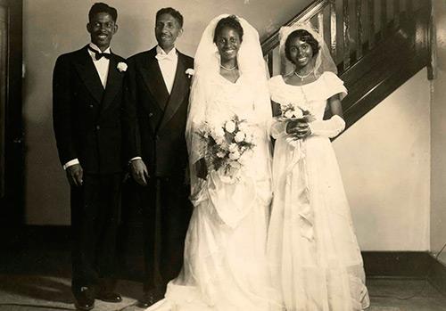 Черная свадьба в винтажных фотографиях