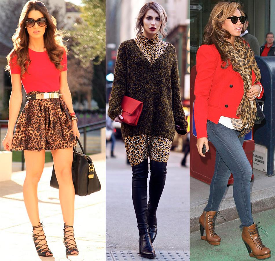 Леопардовый принт с красным