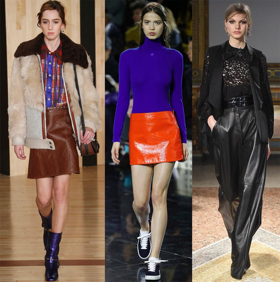 Кожаные юбки и брюки