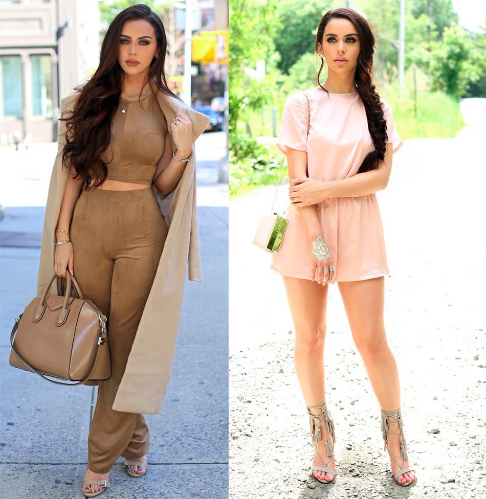 фото модных образов Fashion блогера
