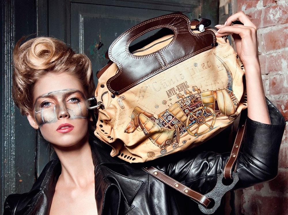 Женская сумка в стиле Стимпанк