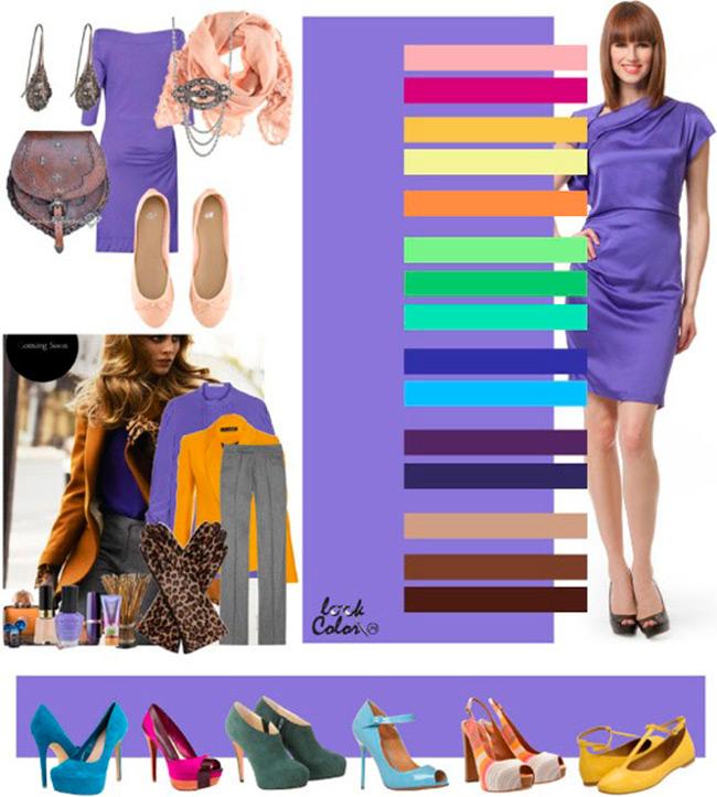 с каким цветом сочетается лиловый цвет в одежде фото оборудование