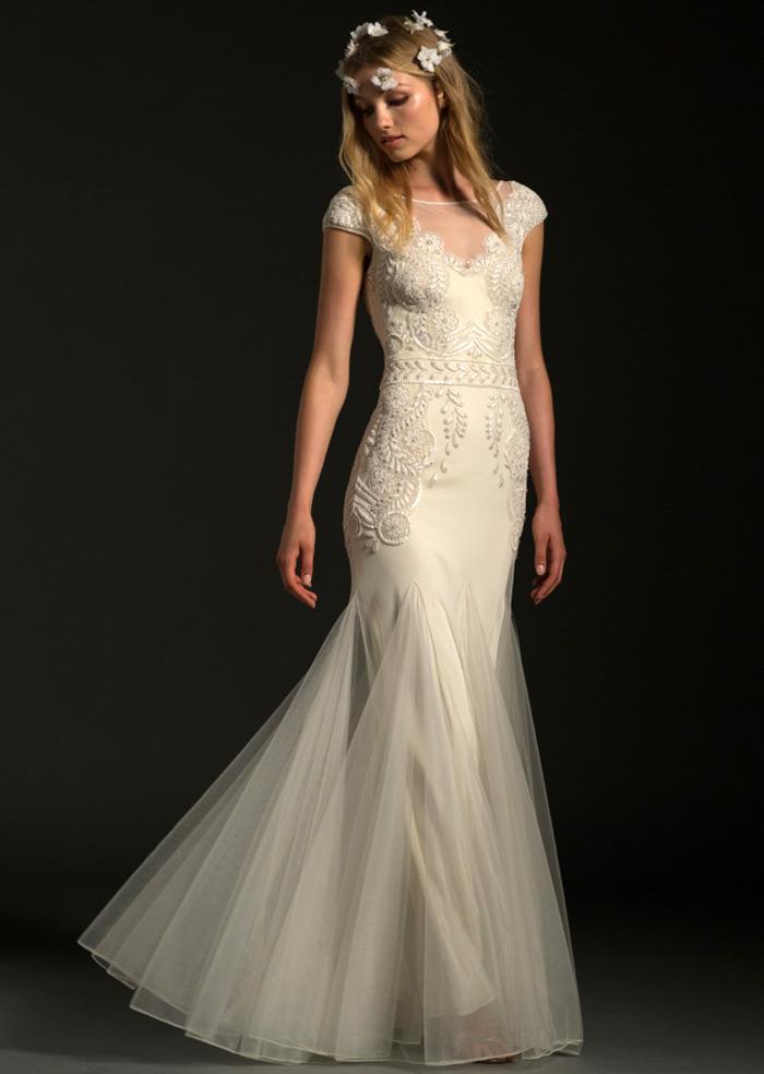 Романтичные свадебные платья с цветочками от Temperley London