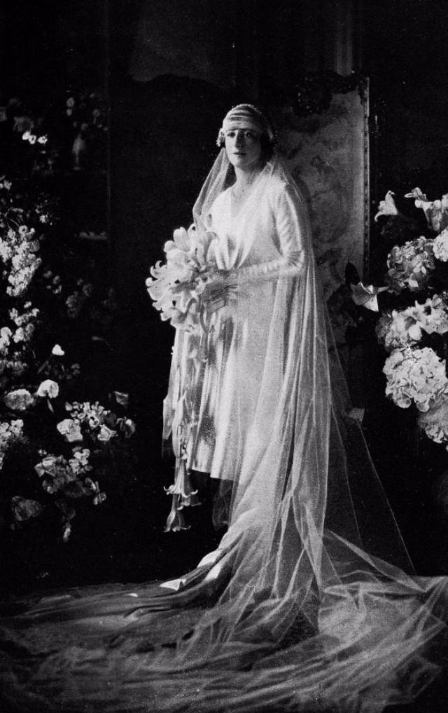 Длинная фата невесты