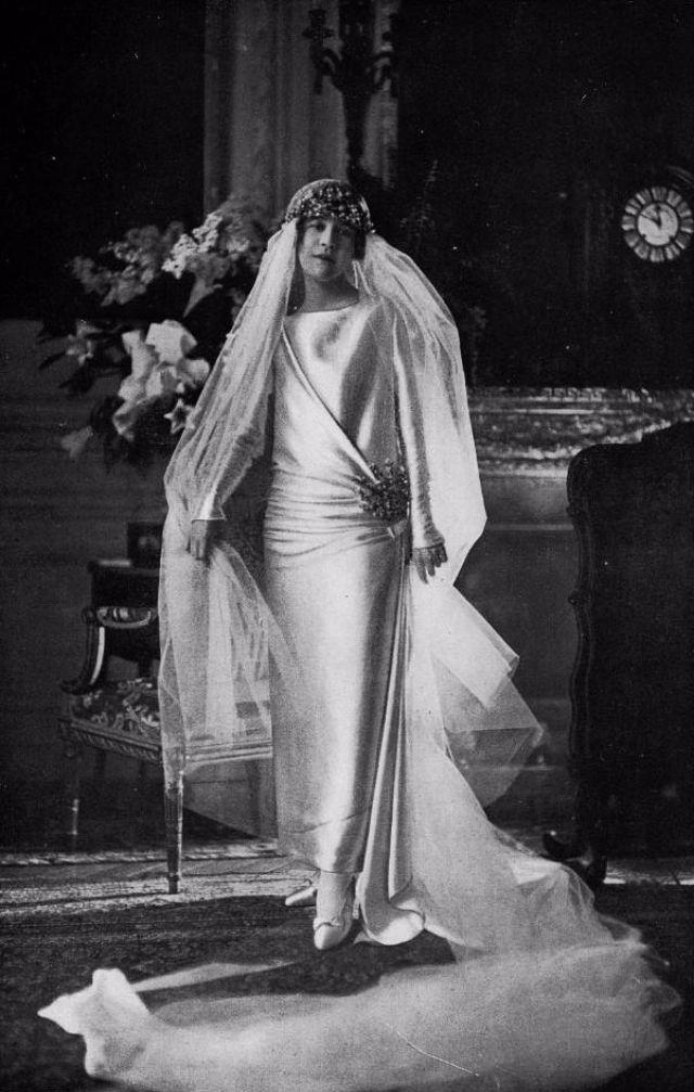 Белое свадебное платье 1920 годов