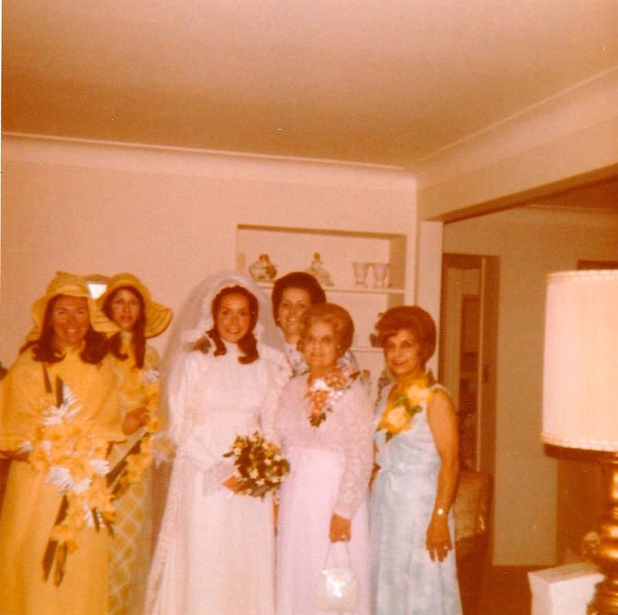 Полароидное свадебное фото