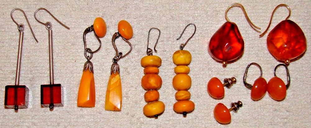 Винтажные украшения из янтаря