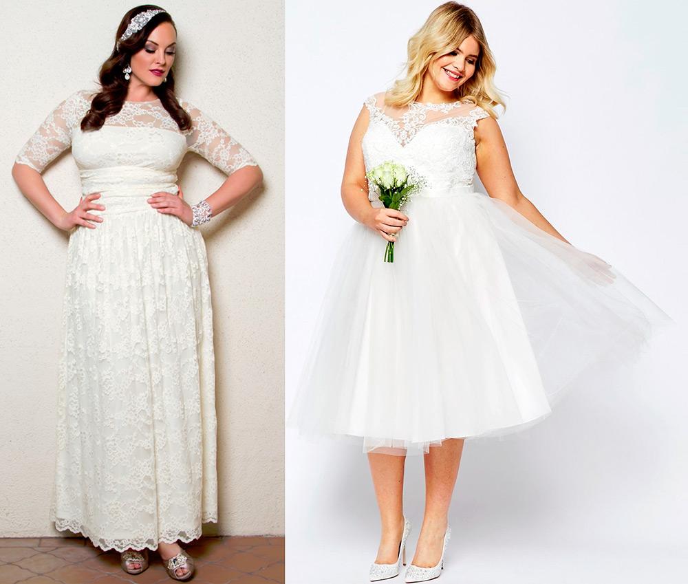 Длина свадебного платья для полной невесты