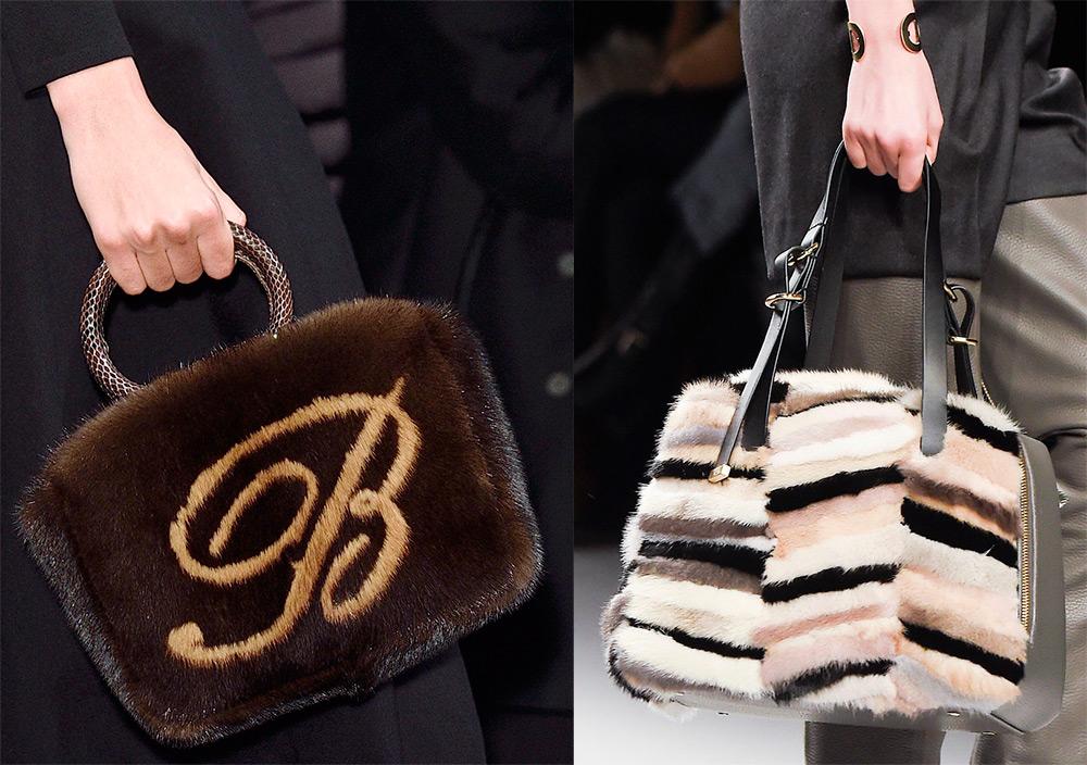 Меховые сумки зима