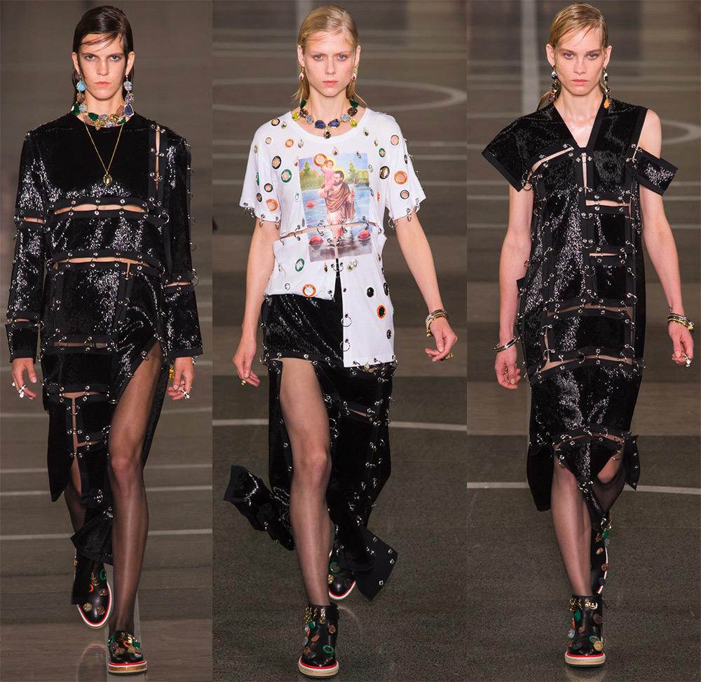 Пирсинг одежды – модная тенденция