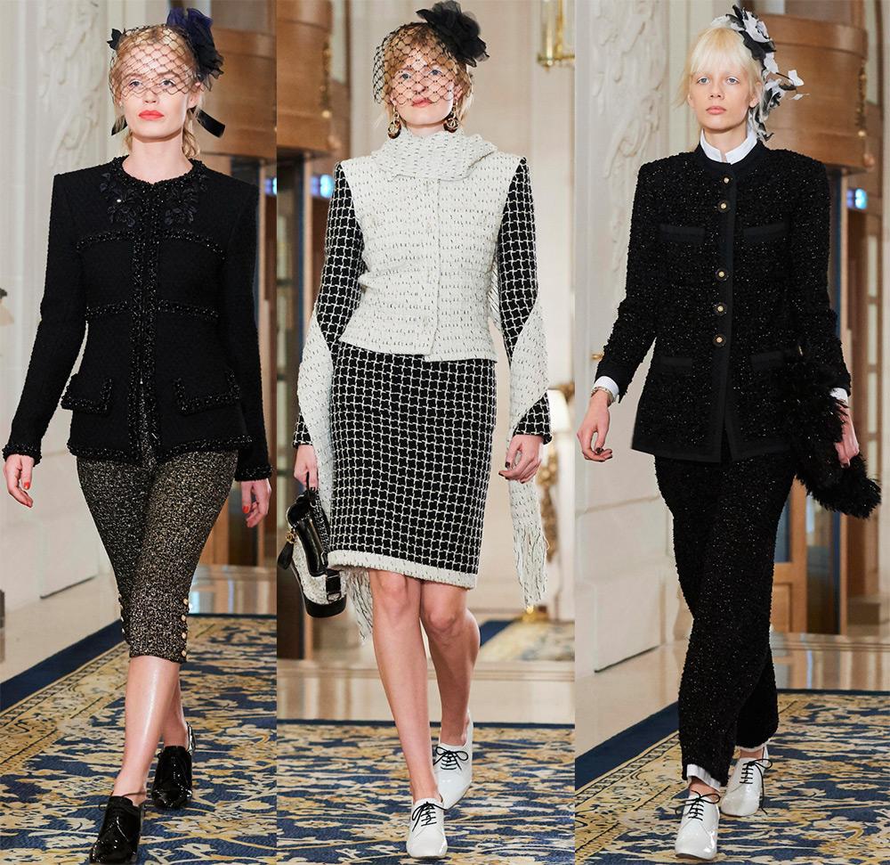 Chanel осень-зима 2017-2018 – фото костюмов и платьев Шанель 77cfcbecdd2