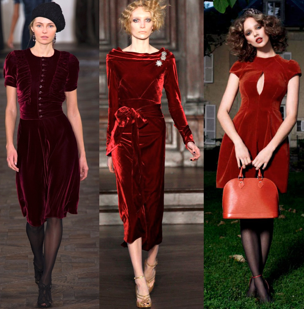 Модно бархатное платье