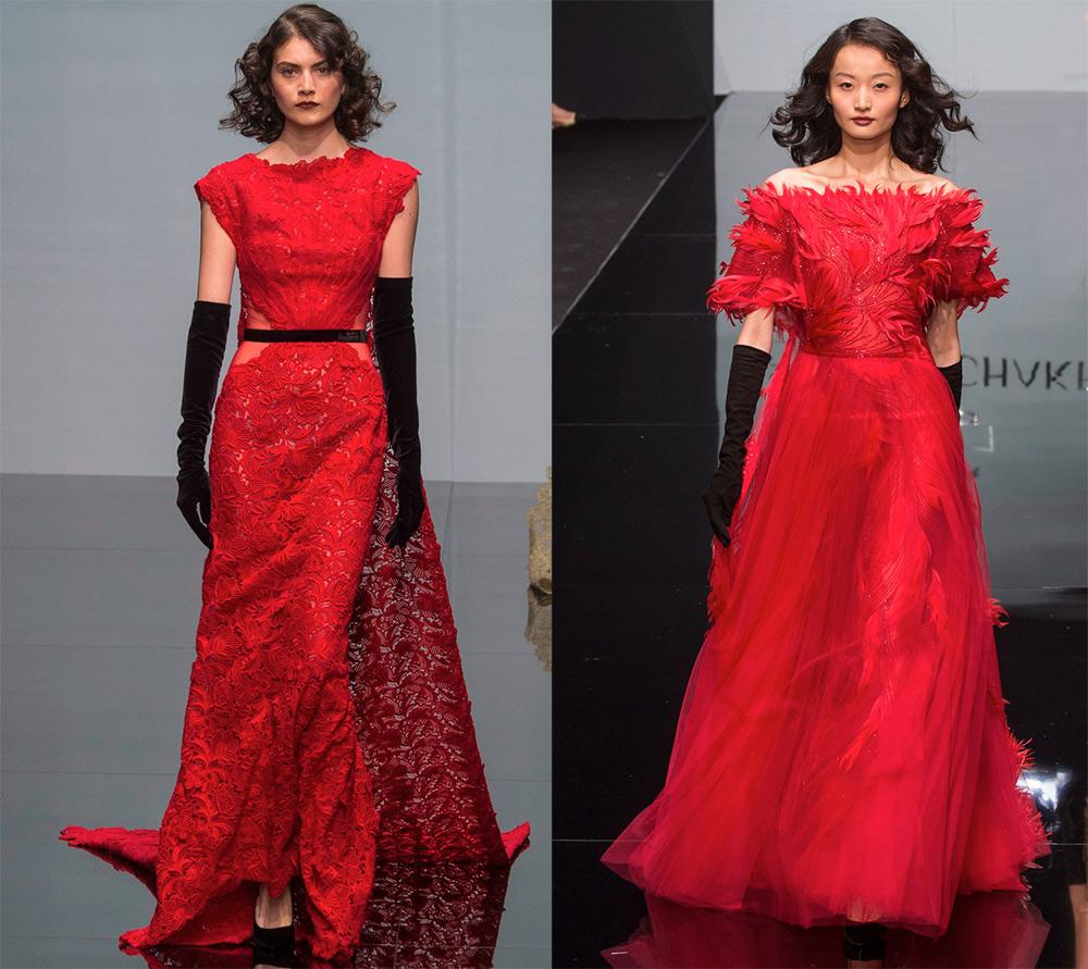 Роскошные красные платья