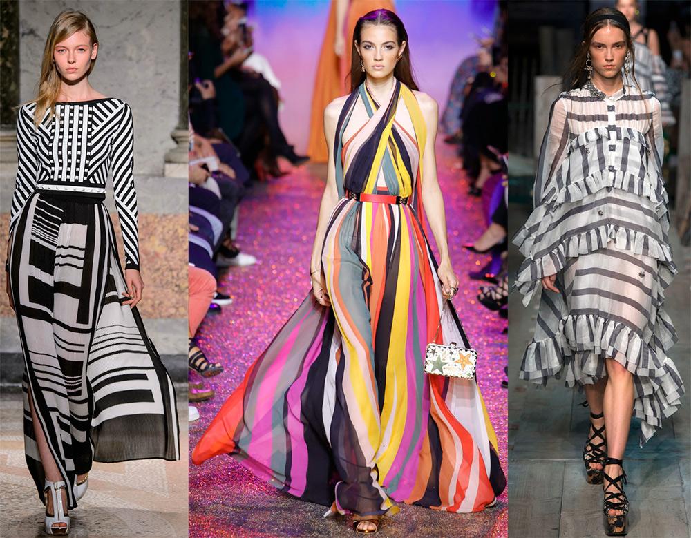 Самые красивые платья в полоску